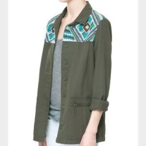 Zara Trafaluc Embroidered Utility Jacket
